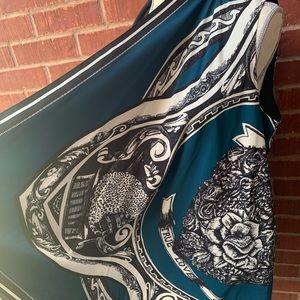 DKNY sleeveless wrap- Teal